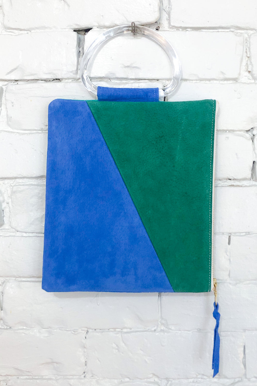 The Diagonal (Sky, Teal, and Spruce w/ Handle)