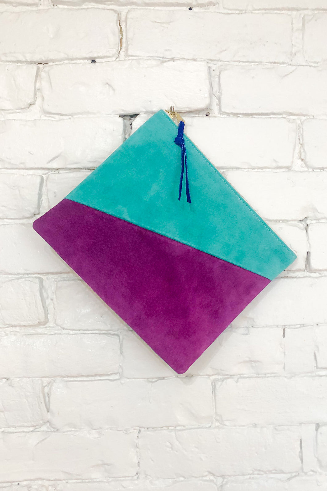 The Diagonal (Teal, Plum, and Sky)