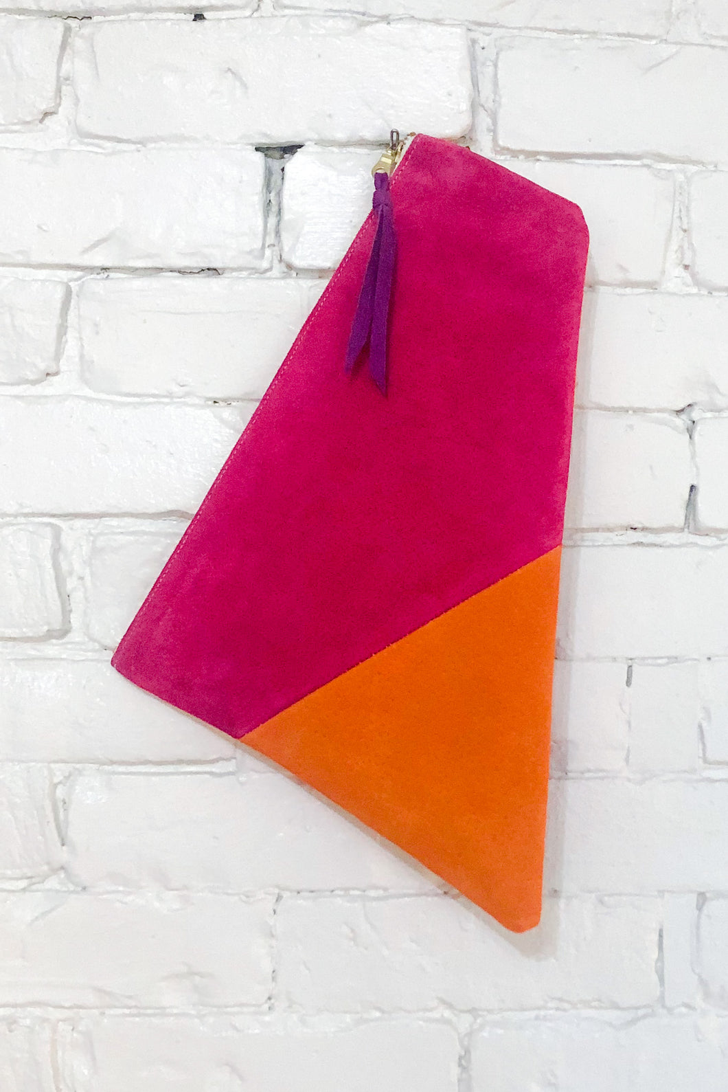The Trapezoid (Apricot and Magenta)