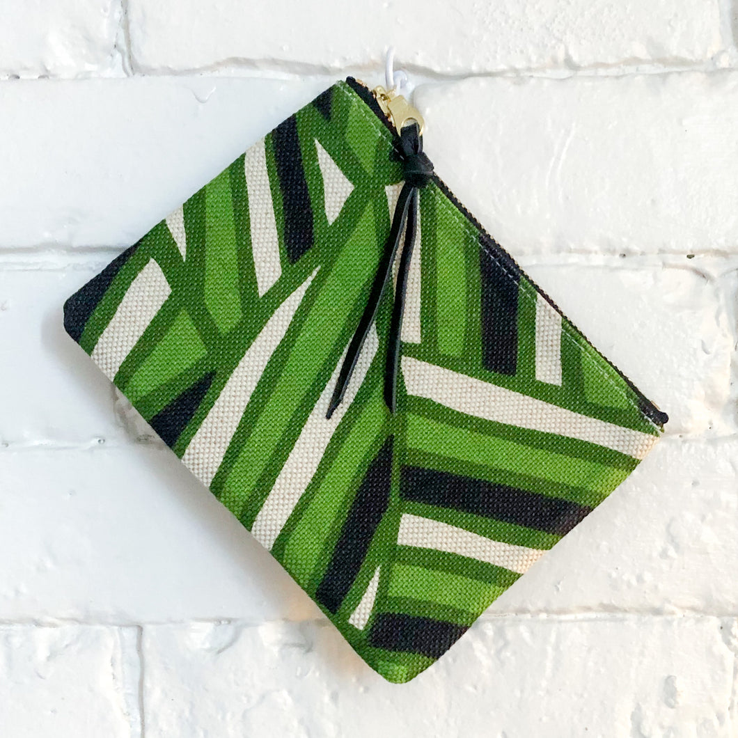 The Mini Pouch (Green Geometric)