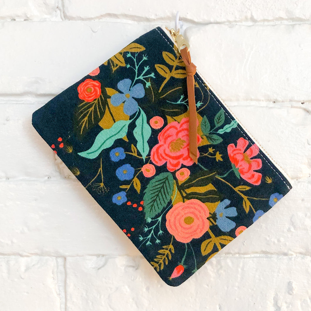 The Mini Pouch (Navy Floral)