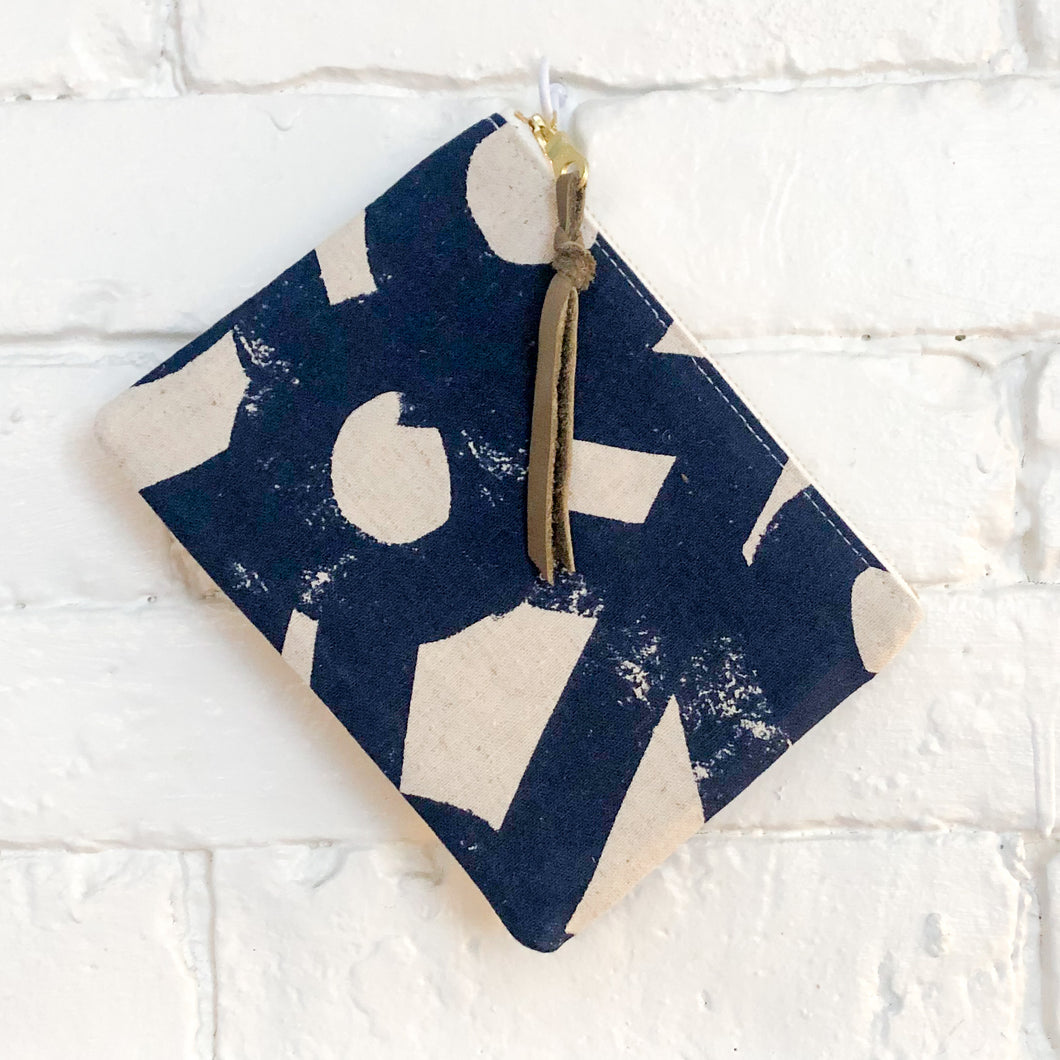 The Mini Pouch (River Rocks Navy)