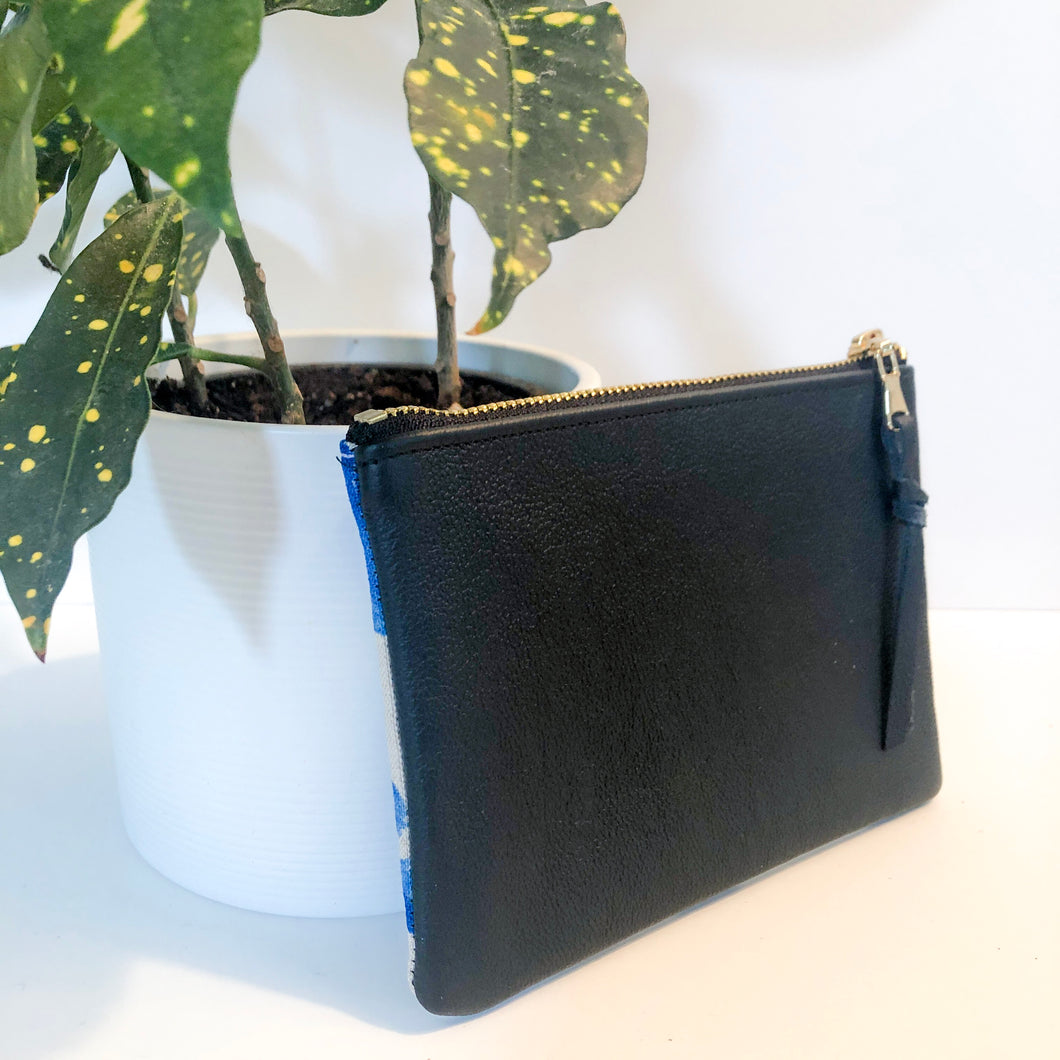 The Mini Pouch (Blue Floral)