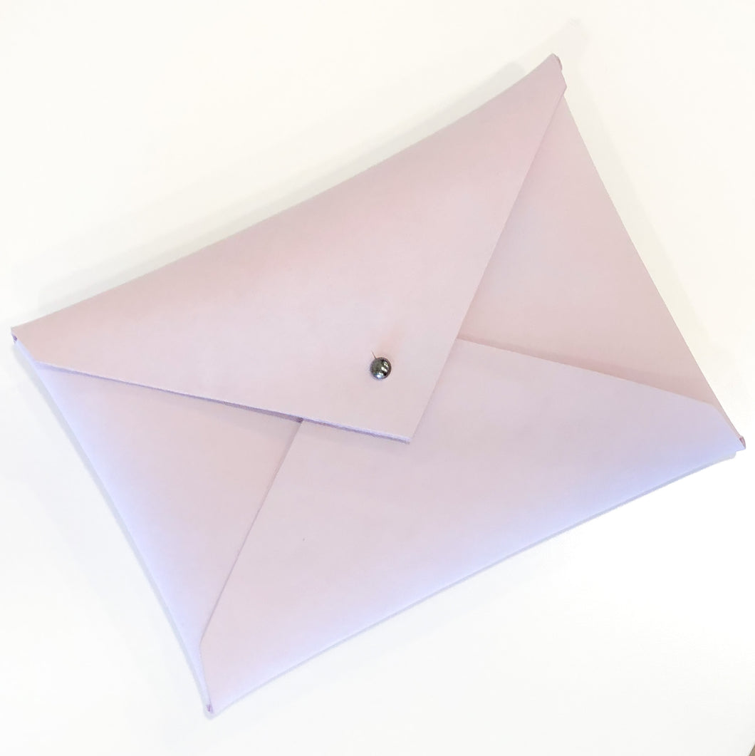 Classic Envelope Clutch- Blush Lilac