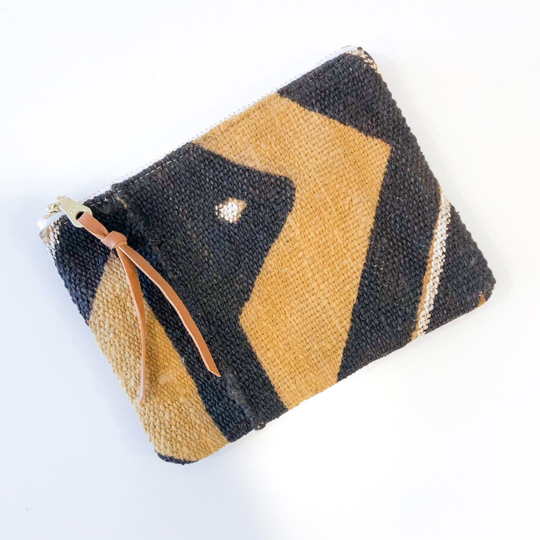 The Mini Pouch (Woven Abstract)