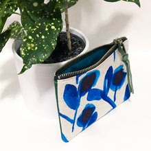 Load image into Gallery viewer, The Mini Pouch (Blue Floral)