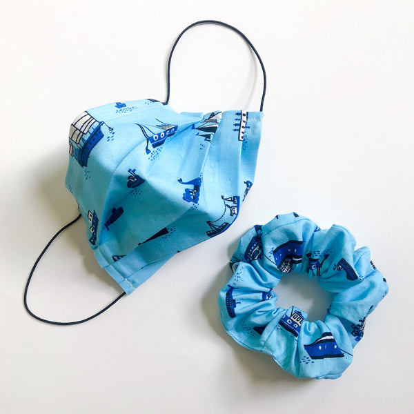 Face Mask and Scrunchie Set (Ships)