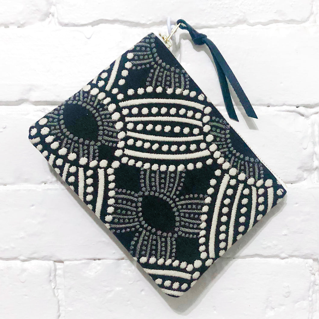 The Mini Pouch (Black and Ivory)