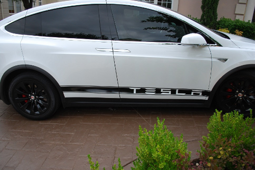 Tesla Model X Side Banner Stripe Graphics (set)