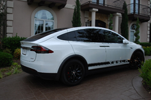 Load image into Gallery viewer, Tesla Model X Side Banner Stripe Graphics (set)