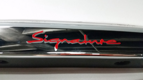 Tesla Model X Signature Script Overlay Red Vinyl (set)