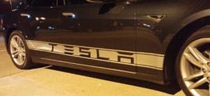 Tesla Model S Side Banner Stripe Graphics (set)