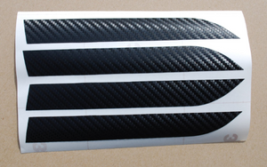 Tesla Model X Door Handle Carbon Fiber Vinyl Overlay Set