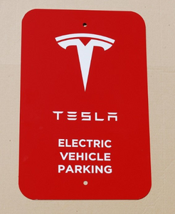 Tesla Parking Sign