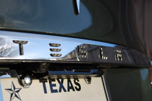 Load image into Gallery viewer, Tesla Model X / S (Sept 2015+) Rear Chrome Applique Script Overlay