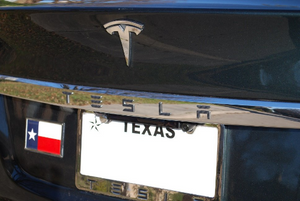 Tesla Model X / S (Sept 2015+) Rear Chrome Applique Script Overlay