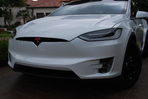 "Tesla Model X Front and Rear ""T"" Logo Overlay (Set)"