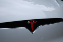 "Load image into Gallery viewer, Tesla Model X Front and Rear ""T"" Logo Overlay (Set)"