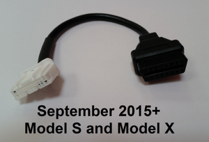 Tesla Model S, Model X, Roadster OBD2/CAN adapter cable