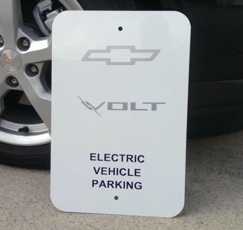 Chevy Volt Parking Sign