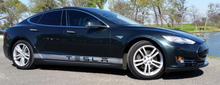 Load image into Gallery viewer, Tesla Model S Side Banner Stripe Graphics (set)