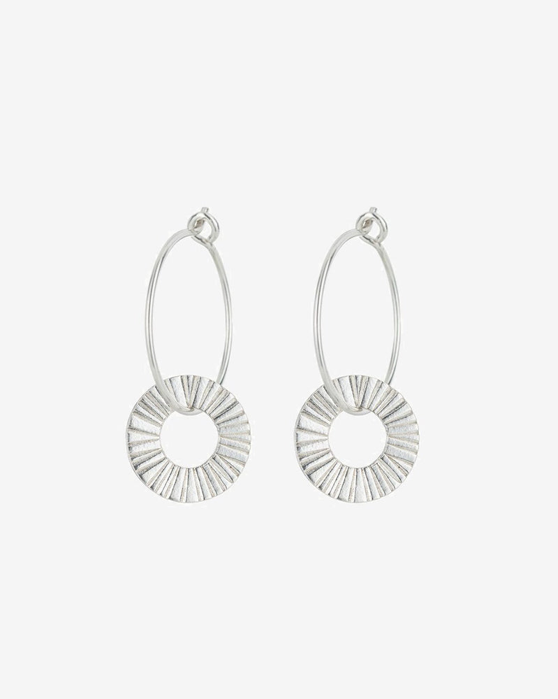 SurfGirl Beach Boutique Ladies Sterling Silver Surfside Hoop Earrings by One & Eight