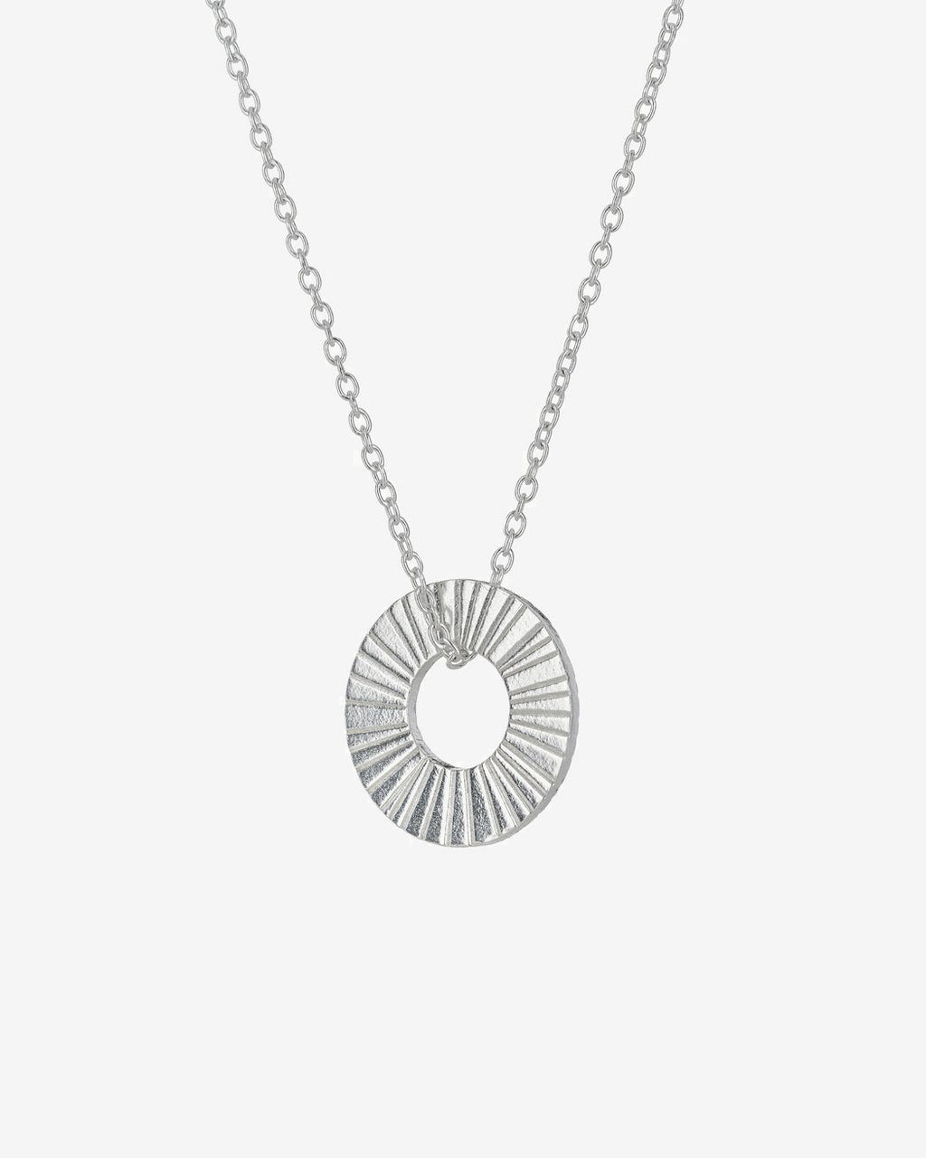 SurfGirl Beach Boutique Ladies Silver Surfside Hoop Necklace by One & Eight Jewellery