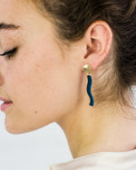 Porcelain Teal Dusk Earrings by One & Eight