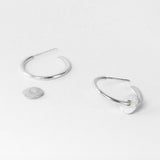 Silver Tolvan Hoop Studs With Removable Charm by One & Eight