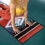 SurfGirl Beach Boutique Slowtide 'Red Rock' Yoga Travel Towel