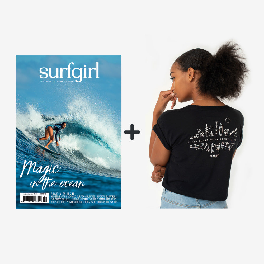 SurfGirl Subscription with a 'Happy Place' Tee