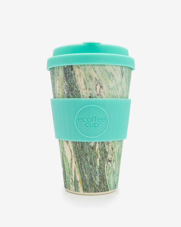 Eco Bamboo Travel Cup 'Marmo Verde' 14oz