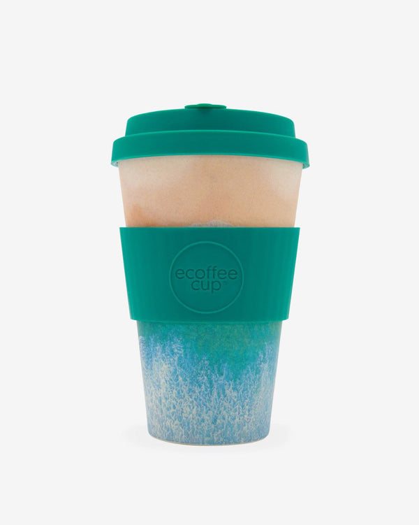 SurfGirl Beach Boutique Eco Bamboo Travel Cup 'Porthcurno' SAS Special Edition 14oz Coffee Mug Reusable