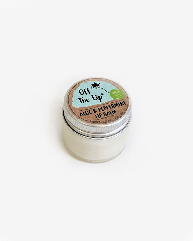 The Coconut Bee 'Off The Lip' - Aloe & Peppermint Vegan Lip Balm