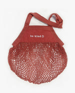 Organic Cotton Long-Handled Mesh Bag in Terracotta Sunset