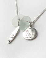 'Happy Place Wanderlust' Spindrift X SurfGirl Collab Necklace