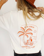 SurfGirl 'Rad Girls Sunshine Club' Tee in White