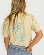 SurfGirl 'Rad Girls Sunshine Club' Tee in Sand