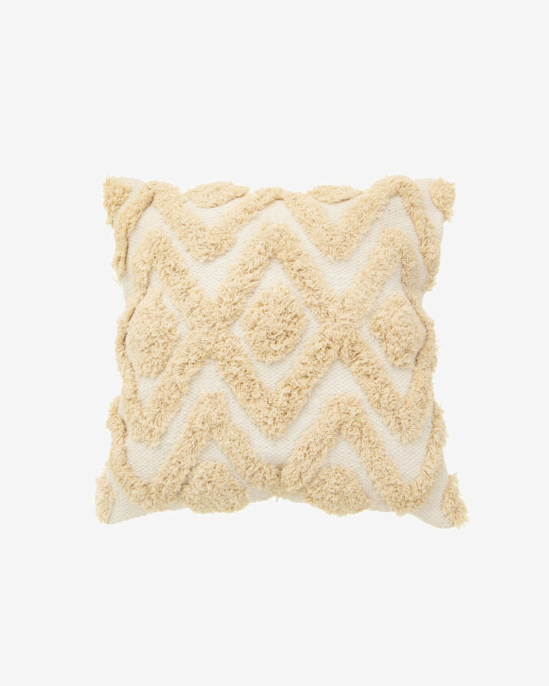 Bohemian Textured Cushion in Natural