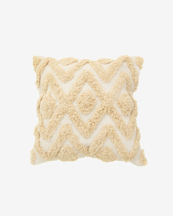 Bohemian Cotton Textured Cushion in Natural
