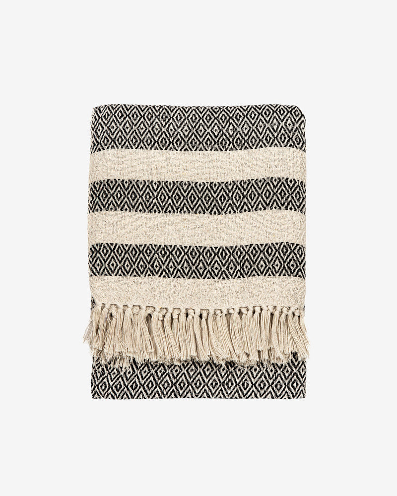 Scandi Boho Cotton Blanket Throw