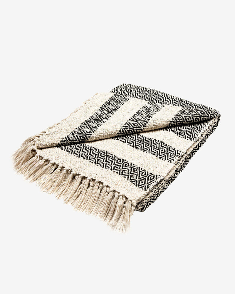 SurfGirl Beach Boutique Scandi Boho Bohemian Cotton Blanket Throw Home Interior