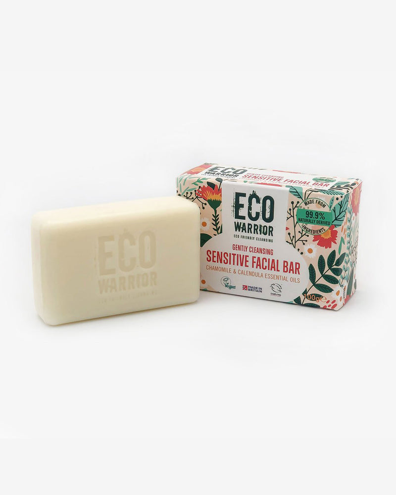 Eco-Warrior Sensitive Facial Cleansing Bar - Chamomile & Calendula Essential Oil Blend