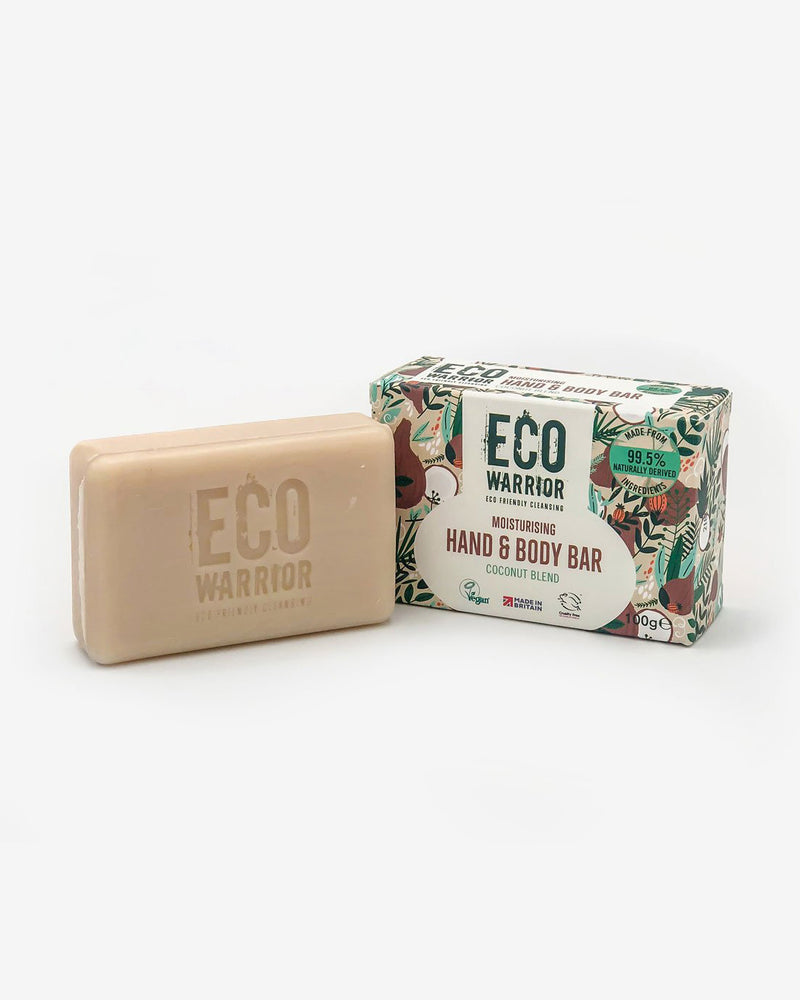 Eco-Warrior Moisturising Hand & Body Cleansing Bar - Coconut Blend
