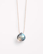 SurfGirl Beach Boutique Wanderlust Life Labradorite Fine Cord Necklace Ladies Jewellery