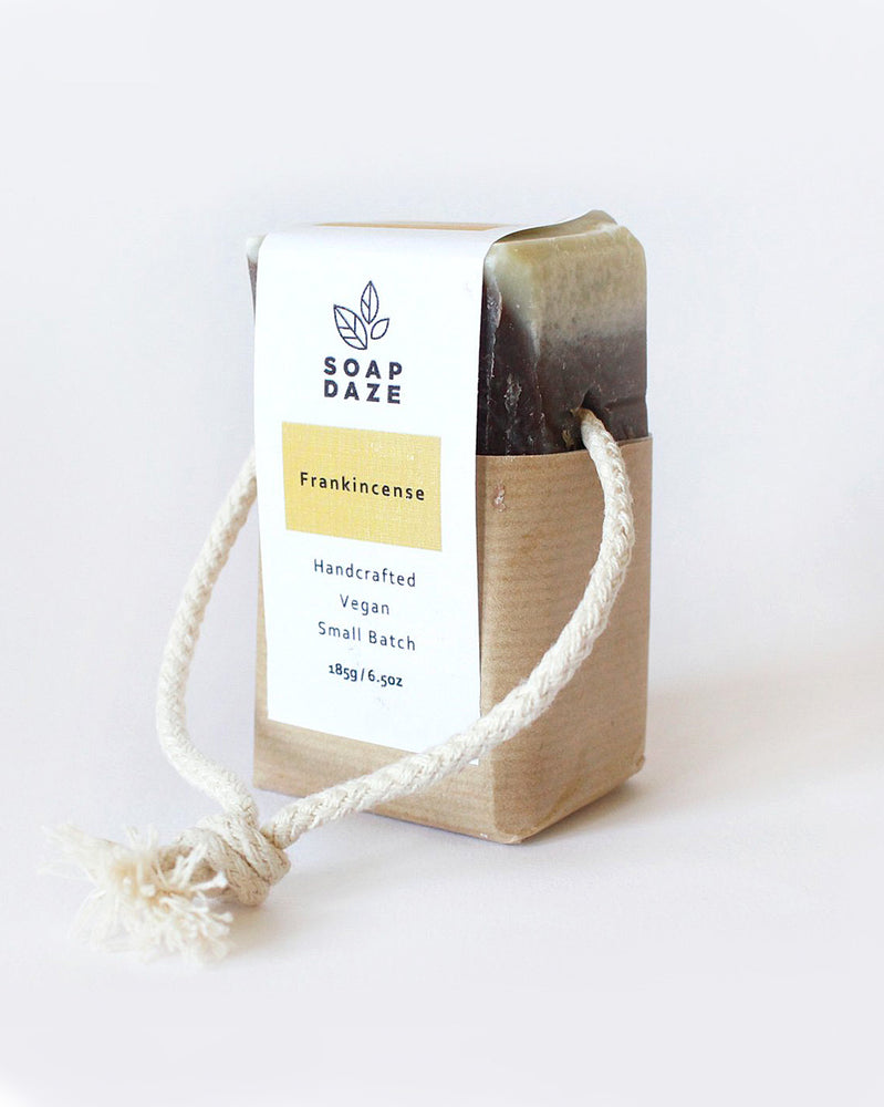 Frankincense Natural Vegan Soap on a Rope Bar