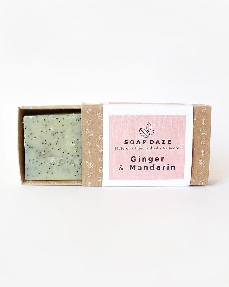 Ginger & Mandarin Natural Vegan Soap Bar
