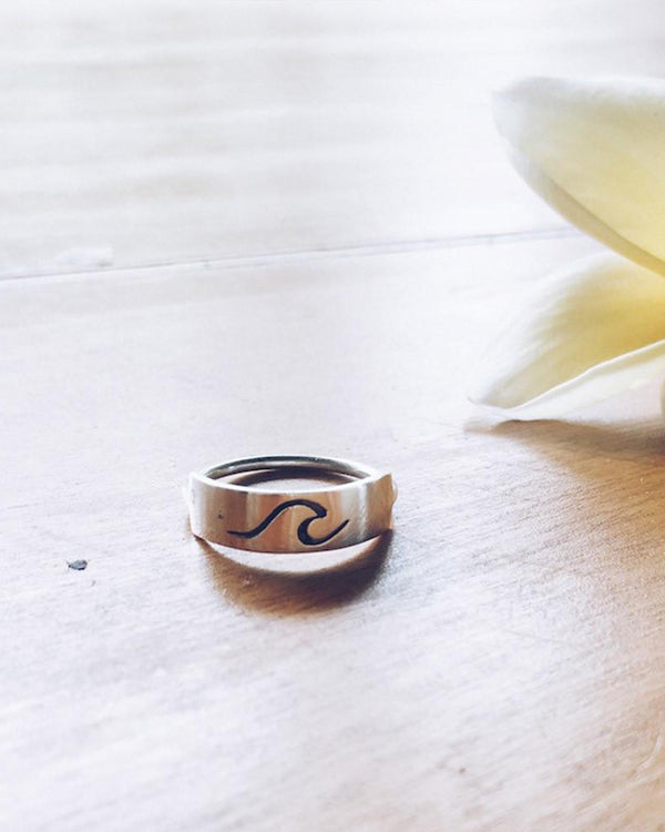 SurfGirl Beach Boutique Moana Sterling Silver Wave Ring Aloha Jewellery