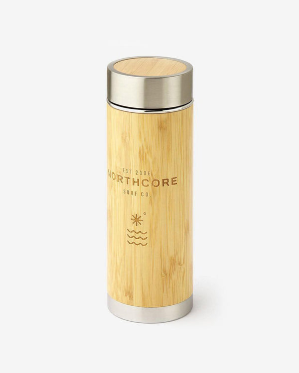 SurfGirl Beach Boutique Northcore - Bamboo Stainless Steel Thermos Travel Flask 360ml