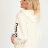 Rip Curl 'Golden State' Zip Up Hooded Sweater in Vintage White